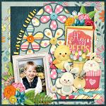 Layout by Judie using Hey Peeps by lliella designs