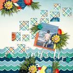 Layout by Hailey using Aqua Rush by lliella designs