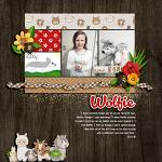 Layout by Jacinda using At The Petting Zoo by lliella designs