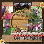 Layout by Michelle using At The Petting Zoo by lliella designs