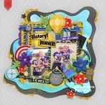 Digital Scrapbook Layout by Wendy