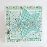 Hybrid card by Andrea, using Baby Boy by lliella designs