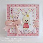 Hybrid card by Andrea, using Baby Girl by lliella designs