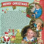 Layout by Michelle, using Merry Little Christmas by lliella designs