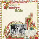 Layout by Lizzy, using Merry Little Christmas by lliella designs