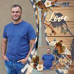 Digital Scrapbook Page by Cassie