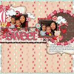 Digital scrapbooking layout by Jacq using Cloud 9 kit by lliella designs
