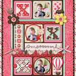 Digital scrapbooking layout by Nikki using Cloud 9 kit by lliella designs