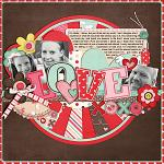 Digital scrapbooking layout by Keely using Cloud 9 kit by lliella designs