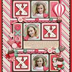 Digital scrapbooking layout by Kay using Cloud 9 kit by lliella designs