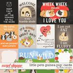 Little Pets Guinea Pig Cards by lliella designs