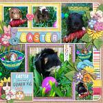 Layout by Jill using Little Pets Easter by lliella designs