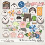 Little Pets Hedgie Stickers by lliella designs