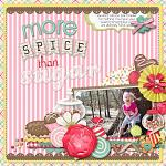 Digital scrapbooking layout by Nikki using Yummy Scrummy kit by lliella designs