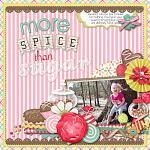 Digital scrapbooking layout by Nikki using Yummy Scrummy kit by lliella designs