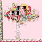 Digital scrapbooking layout by Aly using Yummy Scrummy kit by lliella designs