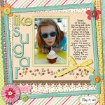 Digital scrapbooking layout by Keely using Yummy Scrummy kit by lliella designs