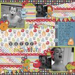 Digital scrapbooking layout by Shannon using Monsterific kit by lliella designs