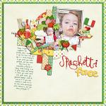 Digital scrapbooking layout by Lizzy using Buon Appetito kit by lliella designs