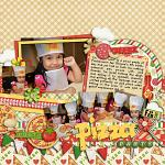 Digital scrapbooking layout by Jacq using Buon Appetito kit by lliella designs