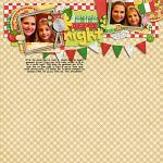 Digital scrapbooking layout by Kendall using Buon Appetito kit by lliella designs