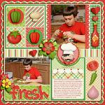 Digital scrapbooking layout by Kay using Buon Appetito kit by lliella designs