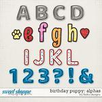 Birthday Puppy Alphas by lliella designs