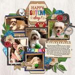 Layout by Jill using Birthday Puppy by lliella designs
