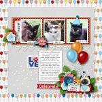 Layout by Kim using Birthday Kitty by lliella designs