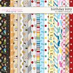 Birthday Kitty Papers by lliella designs