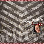 Layout by LeeAndra using Keep the Faith by lliella designs
