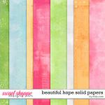 Beautiful Hope Solid Papers