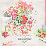 Beautiful Hope Layout by Mary