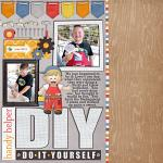 Digital scrapbooking layout by Tracy using Handy Helpers kit by lliella designs