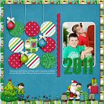 Digital scrapbooking layout by Jacinda using Holiday Hoopla kit by lliella designs