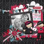 A digital scrapbooking layout by Rebecca using Me + U by lliella designs