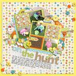 Digital scrapbooking layout by Lizzy using Hoppin' Easter Kit by lliella designs