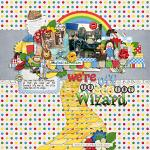 A digital scrapbooking layout by Lizzy using Yellow Brick Road by lliella designs