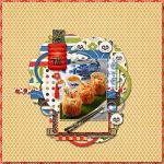 A digital scrapbooking layout by Sanka using Dimsum Delight by lliella designs