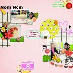 A digital scrapbooking layout by Maria using Oishii by lliella designs