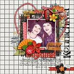 A digital scrapbooking layout by Aly using Oishii by lliella designs, and few stuff by Jenn and Erika