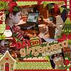 Digital scrapbooking layout by Rebecca using Ho Ho Ho Kit by lliella designs
