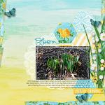 Fresh digital scrapbook kit