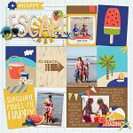 I Love: Summer :: Layout by Krista Lund
