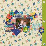 I Love: Summer :: Layout by Amy Hoogstad