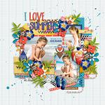 I Love: Summer :: Layout by Mother Bear