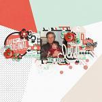 No 1 Dad :: Layout by Jan Sowder