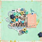 #Be Positive: I Am Enough :: Layout by bexy