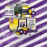 #Be Positive: Never Give Up :: Layout by nietis