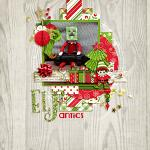 Layout by Lizzy using Jolly Elves by lliella designs